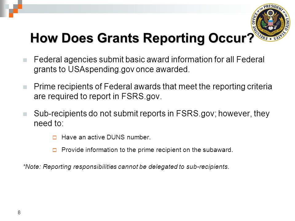 How Does Grants Reporting Occur