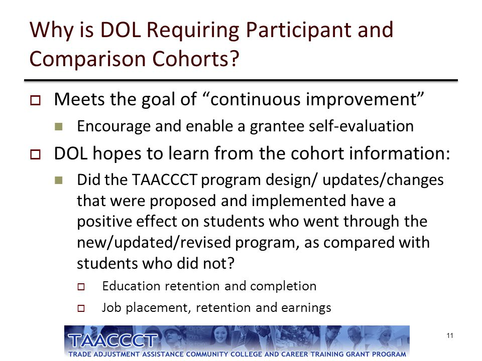 Why is DOL Requiring Participant and Comparison Cohorts