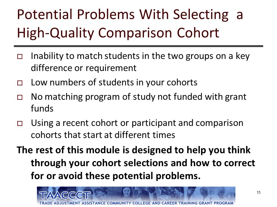Potential Problems With Selecting a High-Quality Comparison Cohort