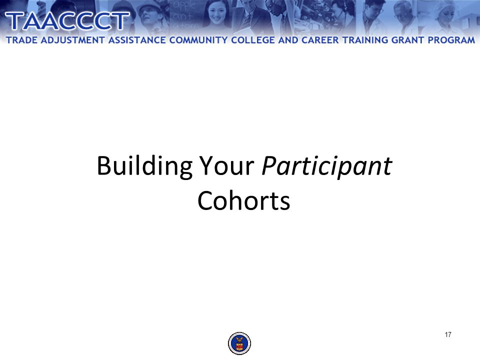 Building Your Participant Cohorts