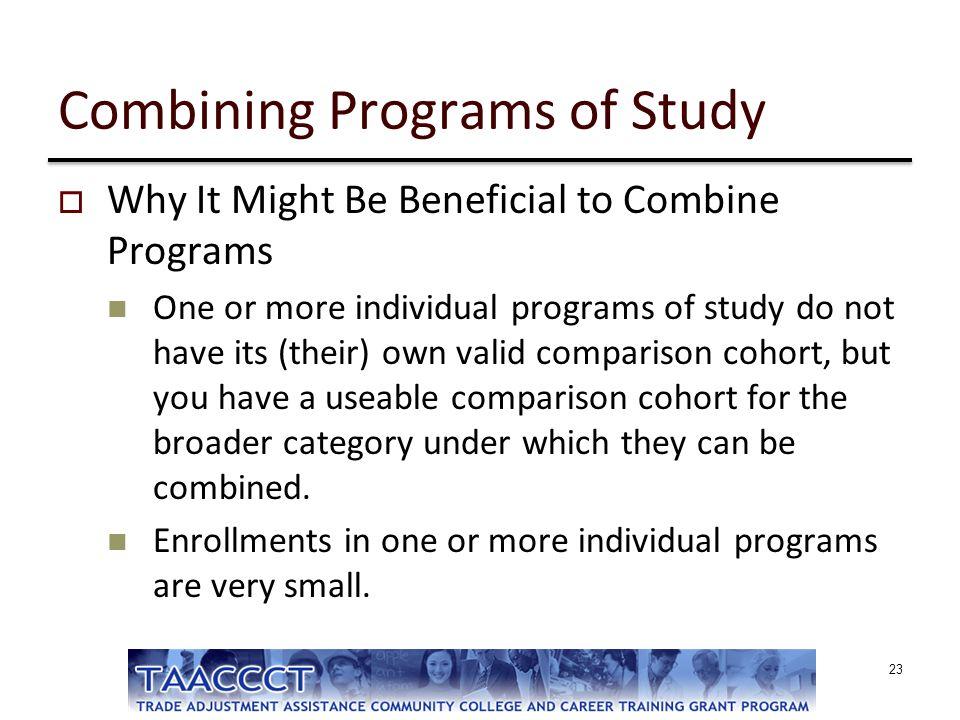 Combining Programs of Study