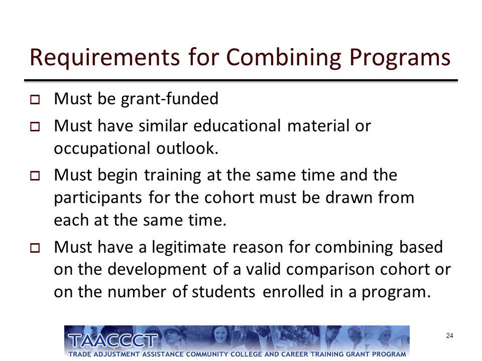 Requirements for Combining Programs