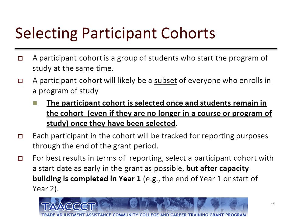 Selecting Participant Cohorts