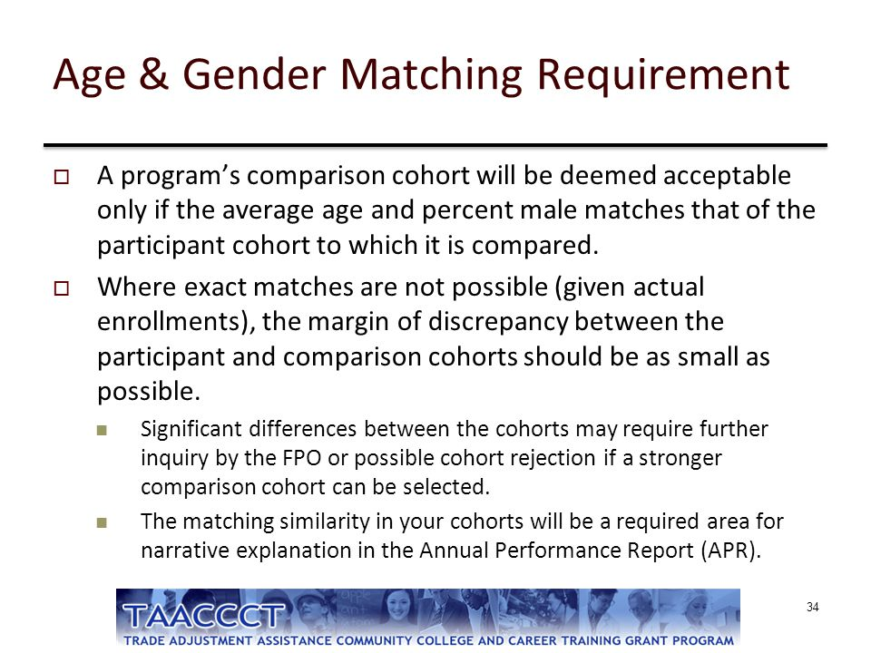 Age & Gender Matching Requirement