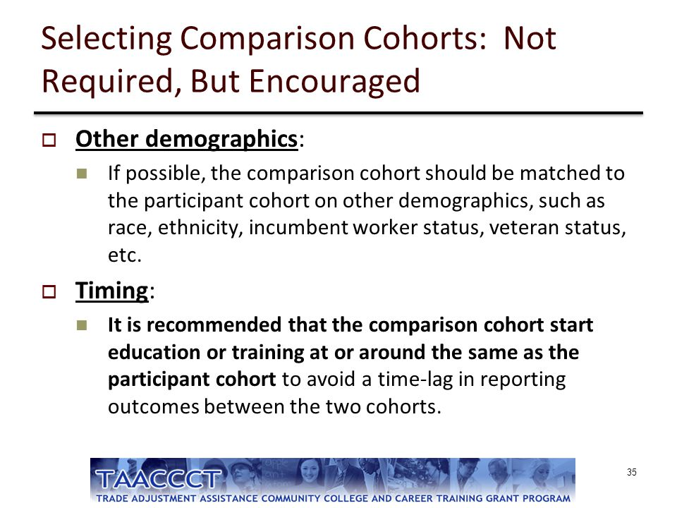 Selecting Comparison Cohorts: Not Required, But Encouraged