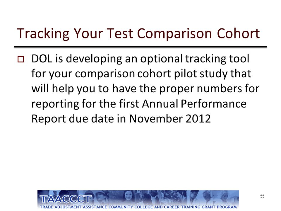 Tracking Your Test Comparison Cohort