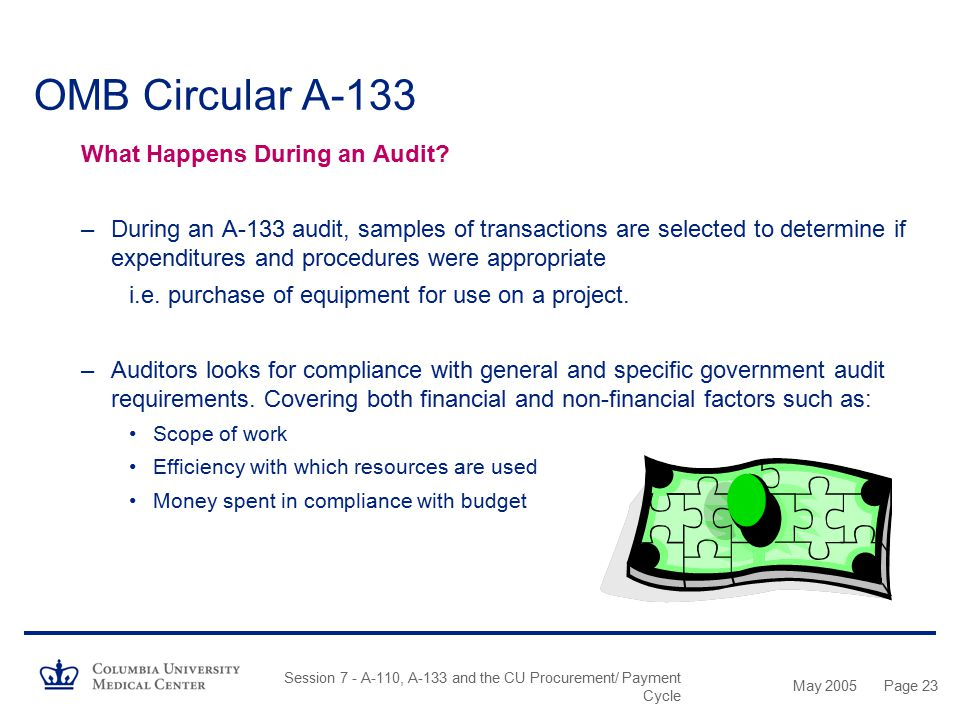 OMB Circular A-133 What Happens During an Audit