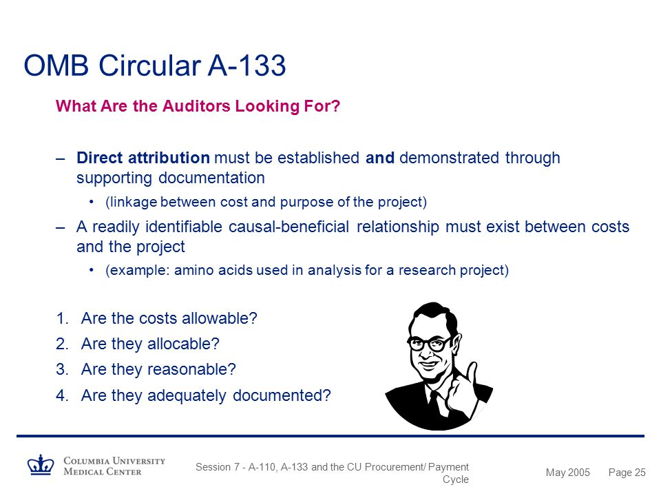 OMB Circular A-133 What Are the Auditors Looking For