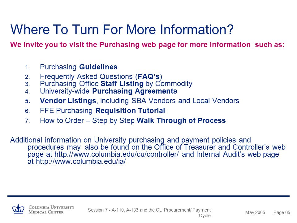 Where To Turn For More Information
