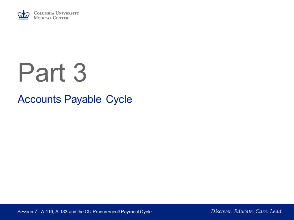 Accounts Payable Cycle