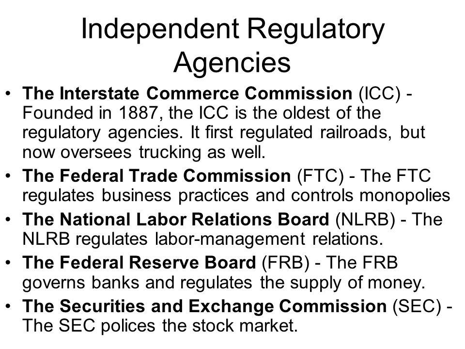 Independent Regulatory Agencies