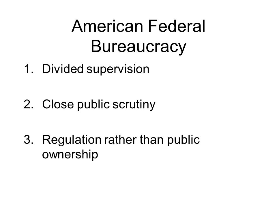 American Federal Bureaucracy