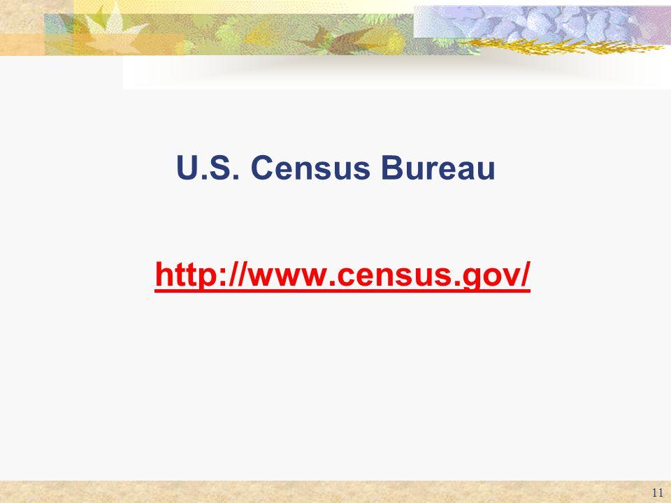 U.S. Census Bureau http://www.census.gov/