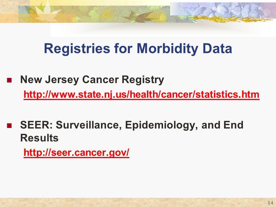 Registries for Morbidity Data
