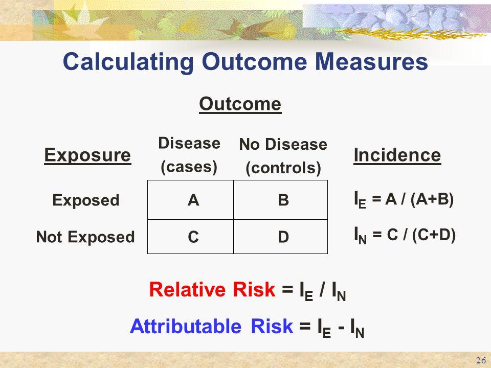 Calculating Outcome Measures