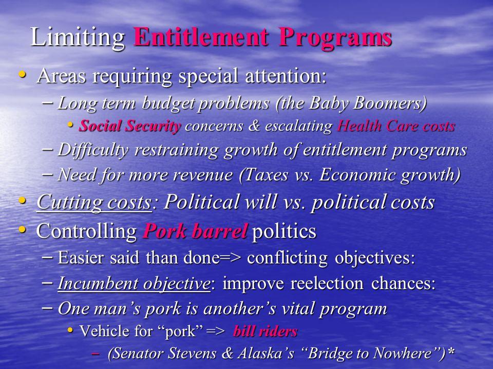 Limiting Entitlement Programs