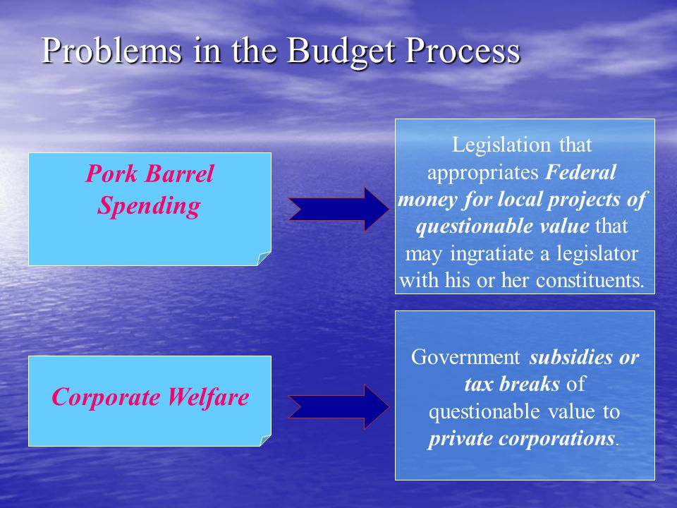 Problems in the Budget Process