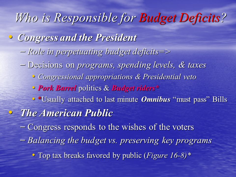 Who is Responsible for Budget Deficits