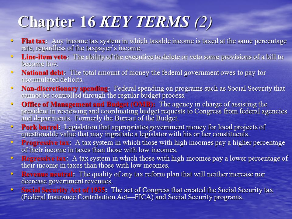 Chapter 16 KEY TERMS (2)
