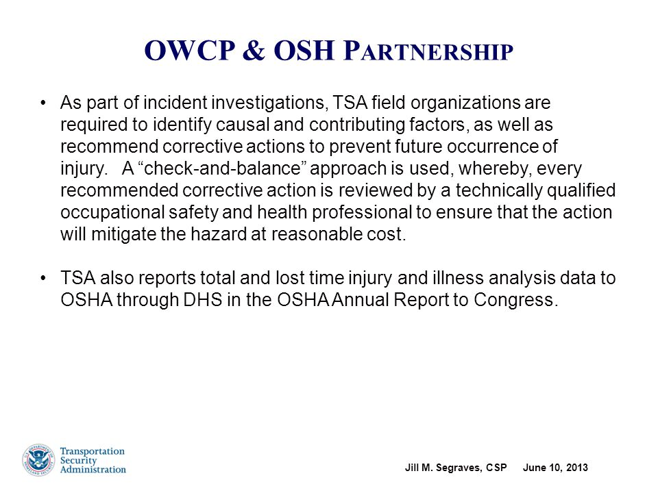 OWCP & OSH Partnership