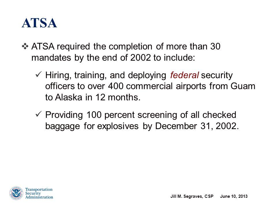 Creation of TSA