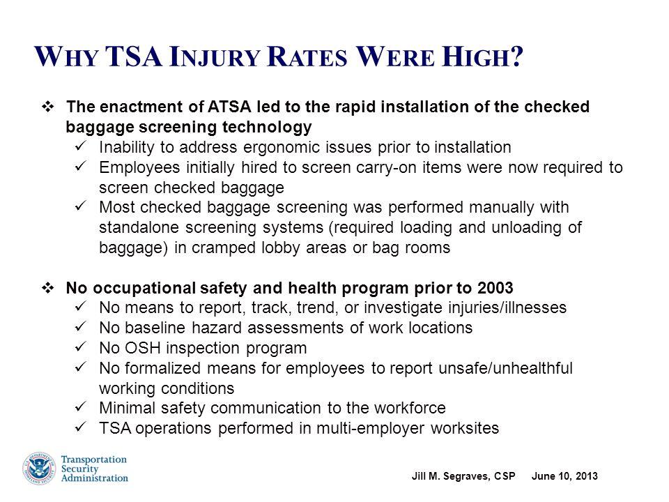 Injury/Illness Rate, Cause & Effects – November 2003