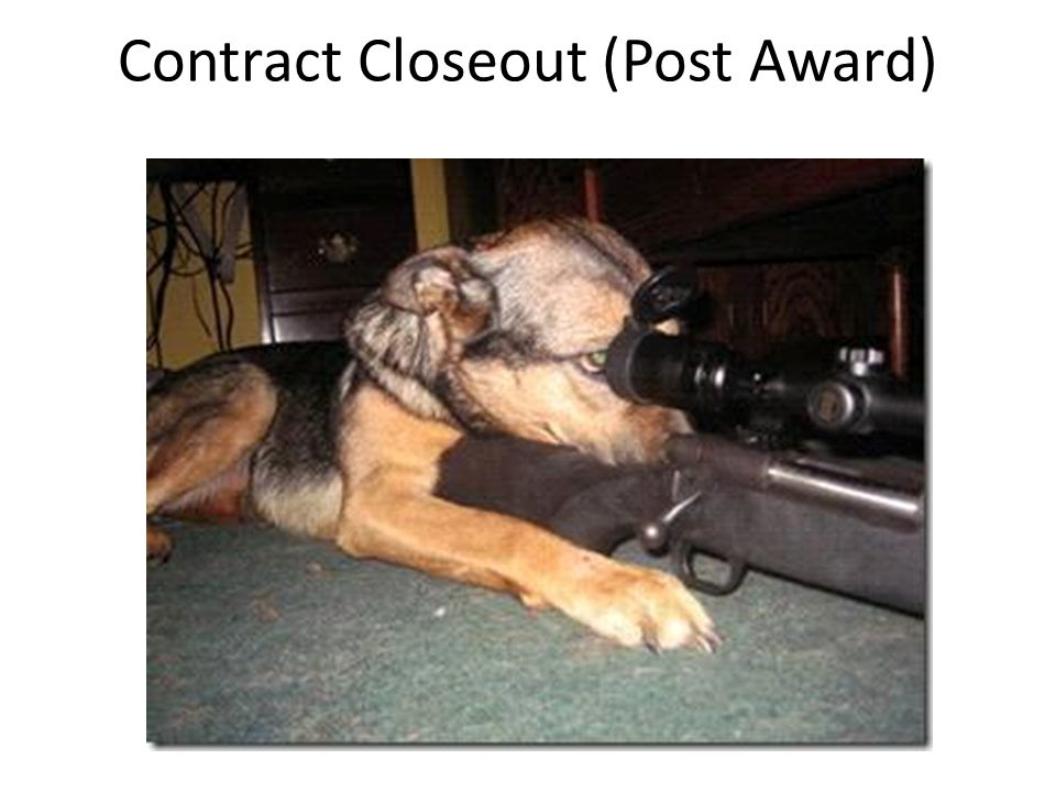 Contract Closeout (Post Award)