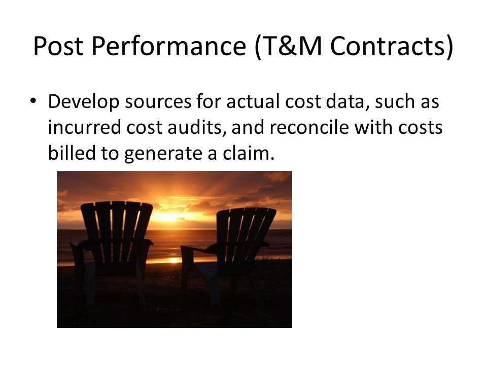 Post Performance (T&M Contracts)