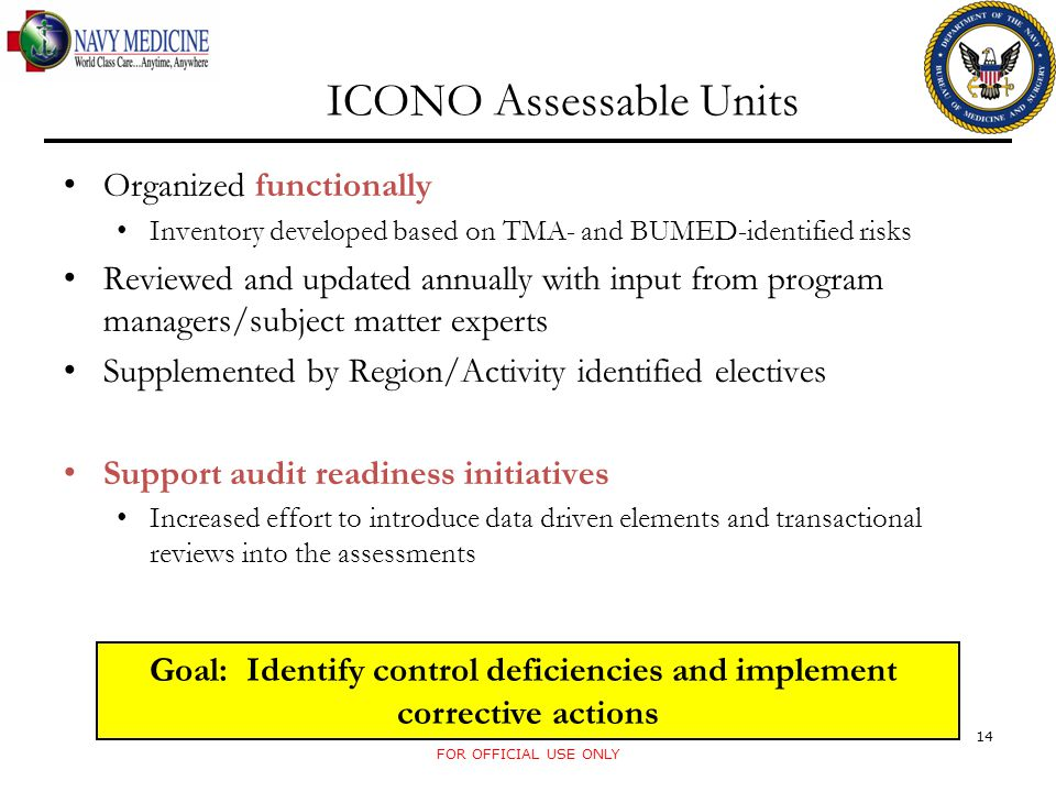 ICONO Assessable Units