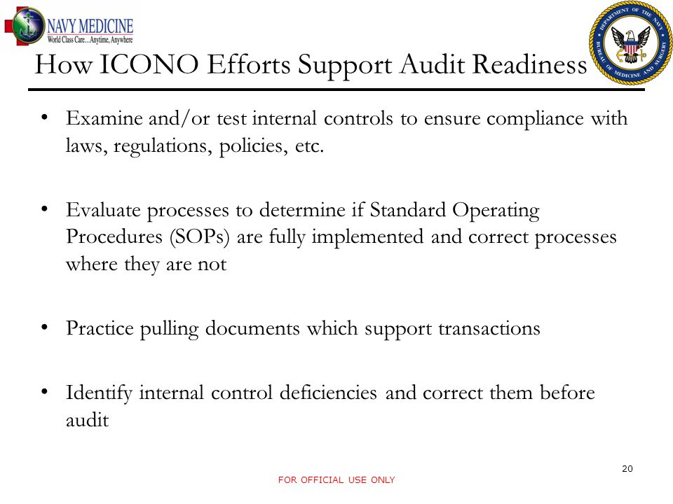 How ICONO Efforts Support Audit Readiness