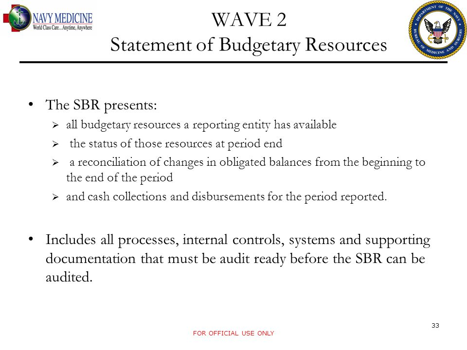 WAVE 2 Statement of Budgetary Resources