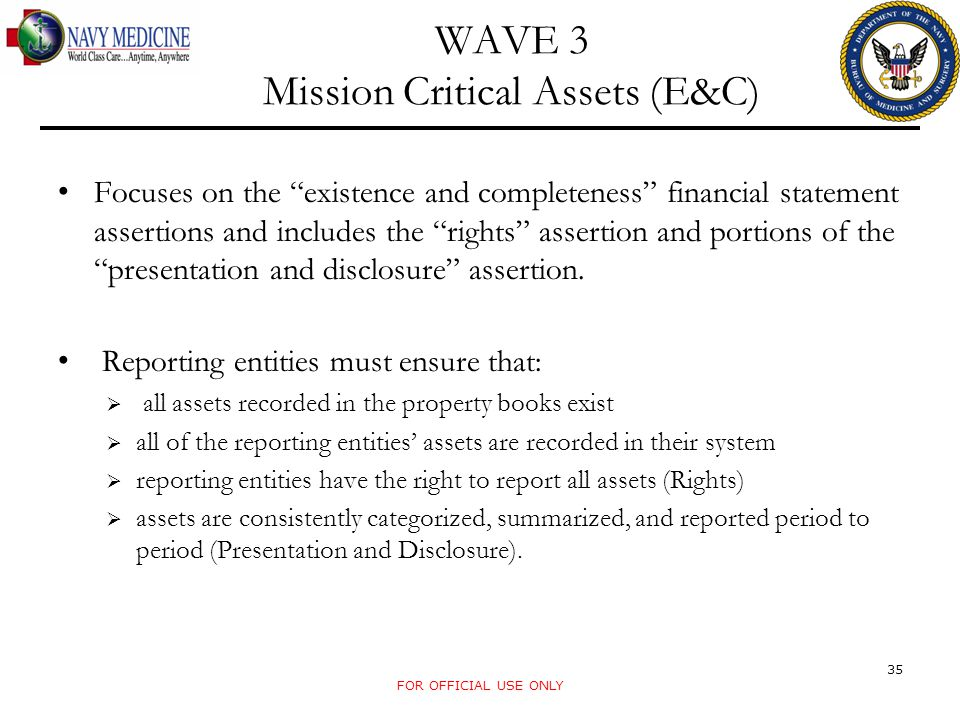 WAVE 3 Mission Critical Assets (E&C)