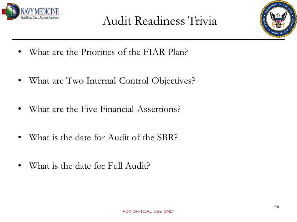 Audit Readiness Trivia