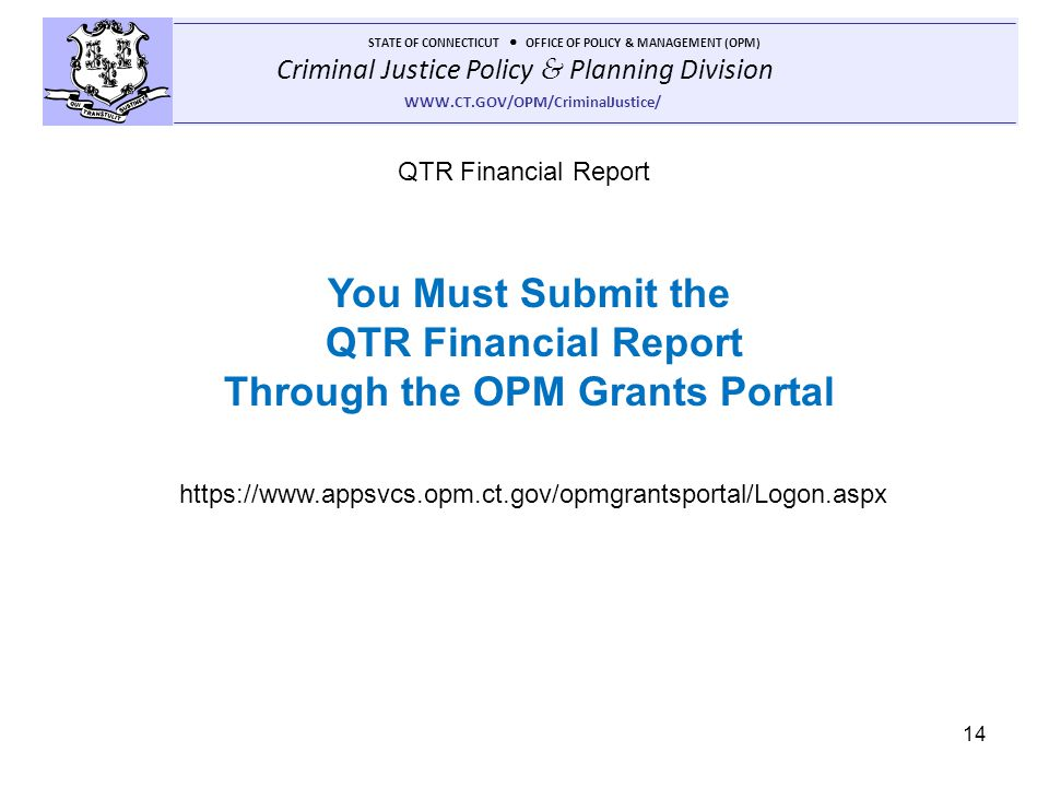 Through the OPM Grants Portal
