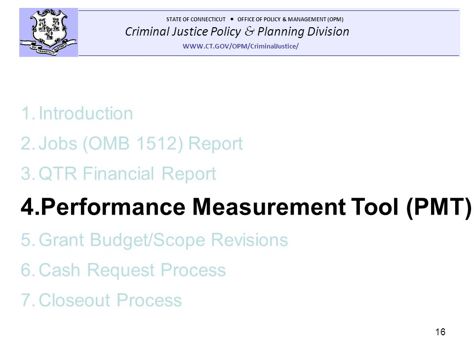 Performance Measurement Tool (PMT)