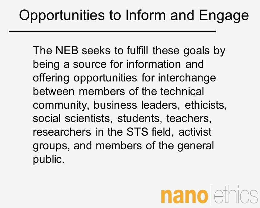 Opportunities to Inform and Engage