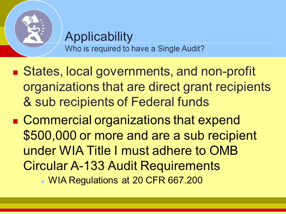 Applicability Who is required to have a Single Audit