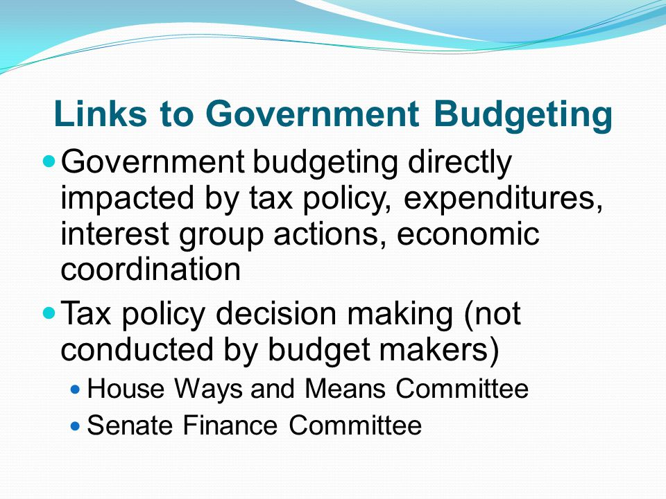 Links to Government Budgeting