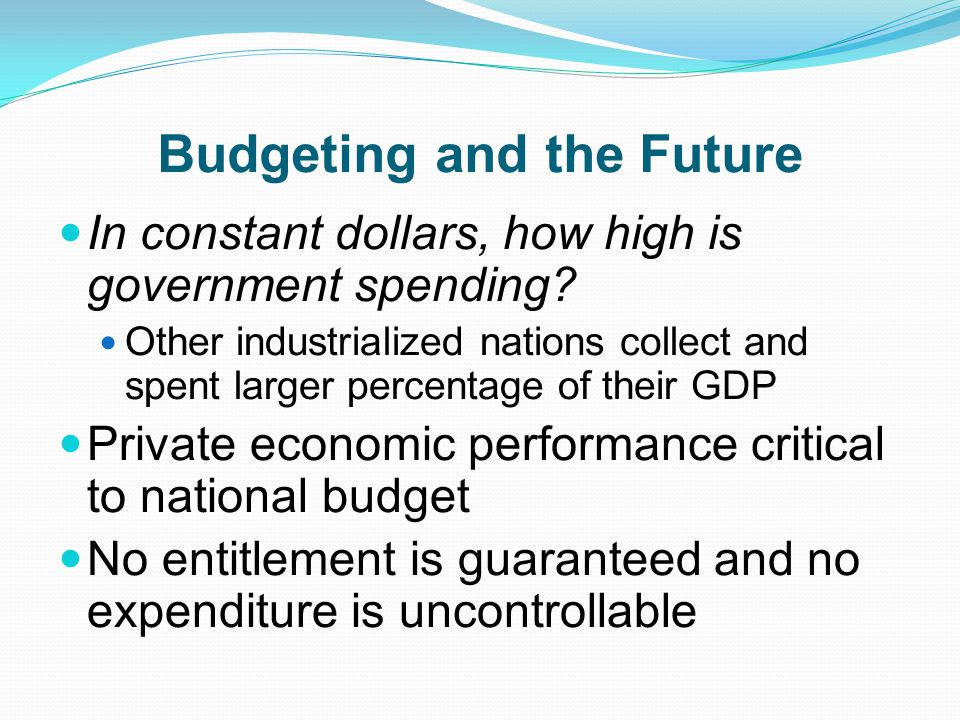 Budgeting and the Future
