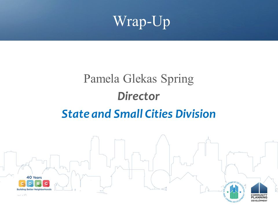 Pamela Glekas Spring Director State and Small Cities Division