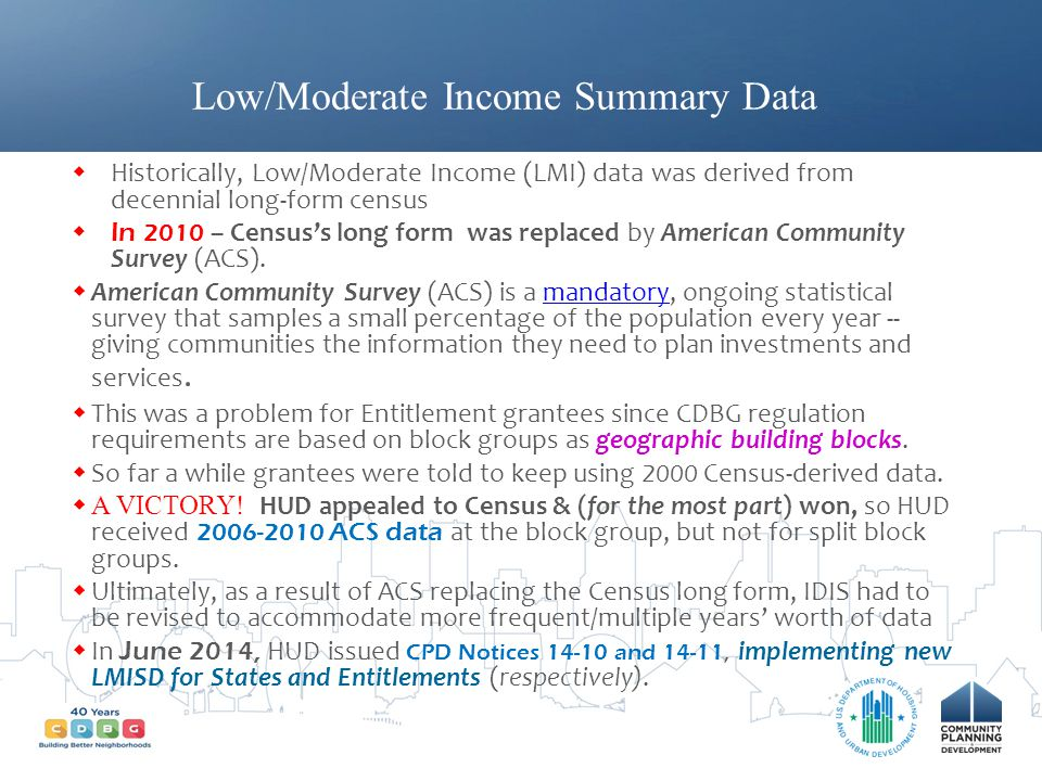 Low/Moderate Income Summary Data