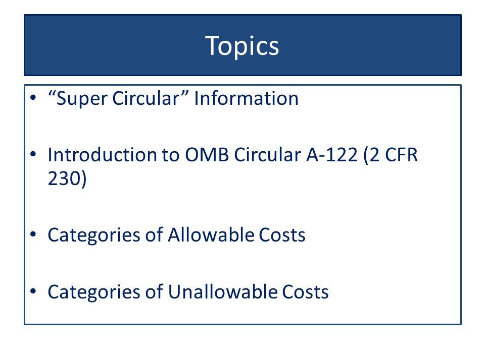 Topics Super Circular Information