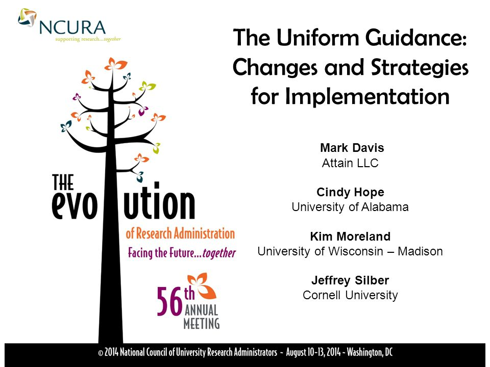 The Uniform Guidance: Changes and Strategies for Implementation