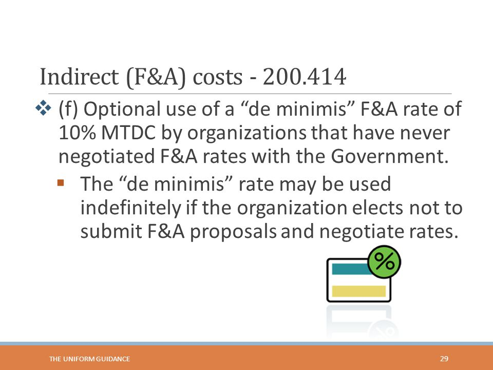 Indirect (F&A) costs - 200.414