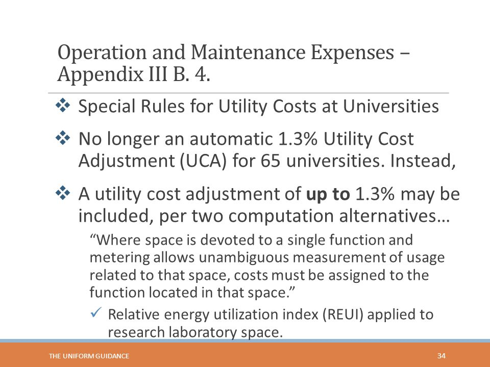 Operation and Maintenance Expenses – Appendix III B. 4.