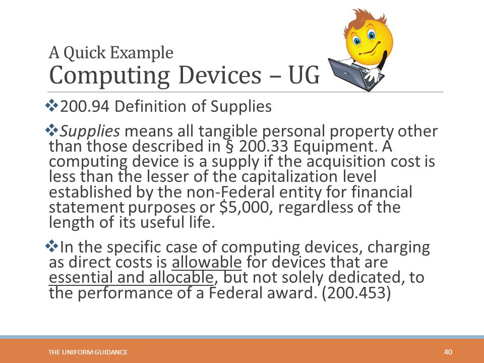 A Quick Example Computing Devices – UG
