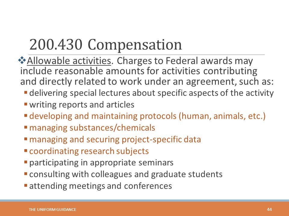 200.430 Compensation