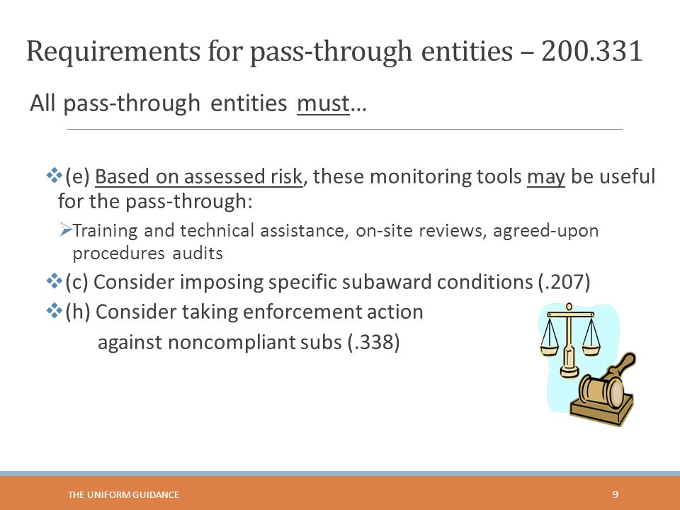 Requirements for pass-through entities – 200.331