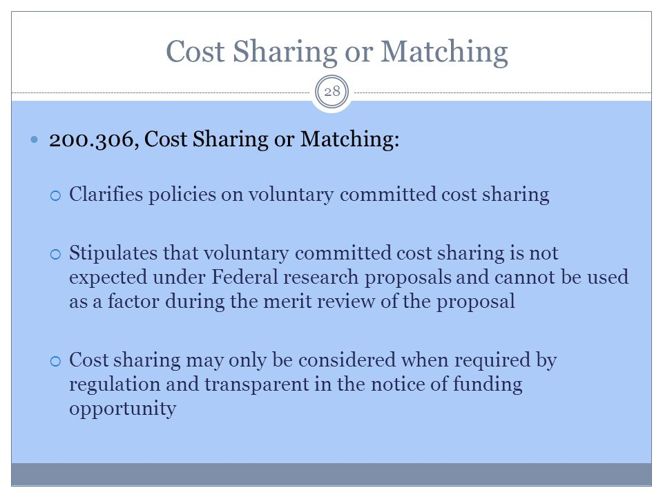 Cost Sharing or Matching