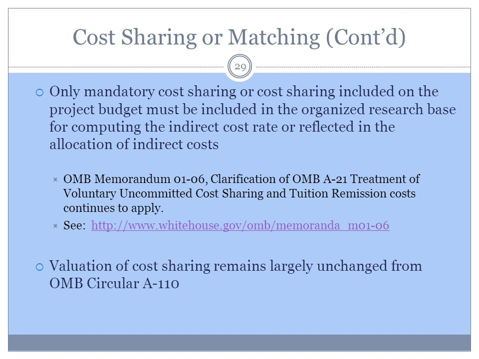 Cost Sharing or Matching (Cont'd)